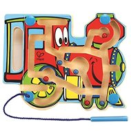Hape Lokomotíva - bludisko s magnetickou paličkou a korálkami - Didaktická hračka