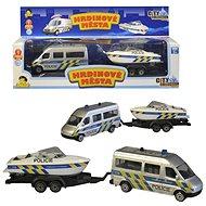 Policajné auto s prívesom a loďou - Auto