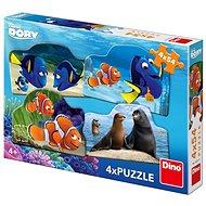 Dino Hľadá sa Dory 4× 54 dielikov - Puzzle