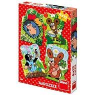 Dino Krtko 4× 12 dielikov - Puzzle