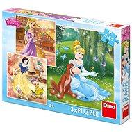 Dino Princezné: Voľné popoludnie 3× 55 dielikov - Puzzle
