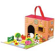 Didaktická hračka Farma v cestovnom kufríku - Didaktická hračka