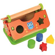 Vkladačka, drevený domček - Didaktická hračka