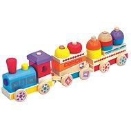 Farebný drevený vláčik Maxi - Didaktická hračka