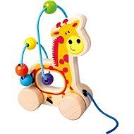 Ťahacia žirafa, drevený labyrint - Didaktická hračka