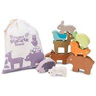 Drevená hračka Le Toy Van Petilou Skladacia veža zvieratká - Dřevěná hračka