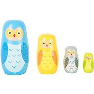 Drevená hračka Small Foot Matrioška sovia rodina - Dřevěná hračka