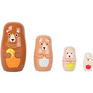 Small Foot Matrioška medvedia rodina - Drevená hračka
