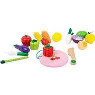 Small Foot Magnetický set ovocie a zelenina - Drevená hračka