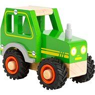 Small Foot Traktor zelený - Drevená hračka