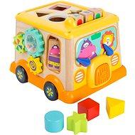 Drevená hračka Small Foot Motorická kocka školský autobus - Dřevěná hračka