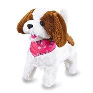Jamara plyšový pes, bielo-hnedý na diaľkové ovládanie - Interaktívna hračka
