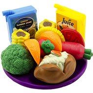 Potraviny v košíku na piknik - Herná sada