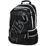 OXY Sport Black Line white - Školský batoh