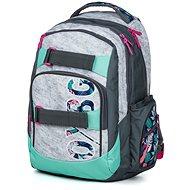 OXY Style Grey tropical - Školský batoh