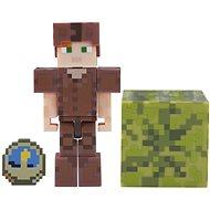 Minecraft Alex v koženej zbroji