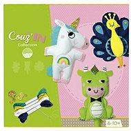 Avenue Mandarine Veľký kreatívny box Detské šitie zvieratká - Kreatívna súprava