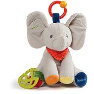 Gund Sloníča flappy s hrkálkami 22 cm - Plyšová hračka