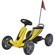 Buddy Toys šliapacia kára – žltá - Trojkolka