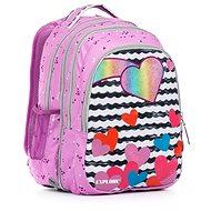 Anna Purple hearts 2 v 1 - Školský batoh