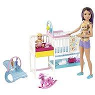 Barbie Herná sada detská izbička - Bábika