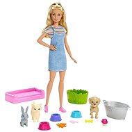 Barbie Kúpanie zvieratiek - Bábika