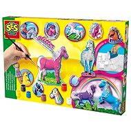SES Odlievanie a maľovanie koní - Kreatívna súprava