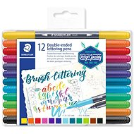 Staedtler Brush letter Duo 12 farieb - Fixky