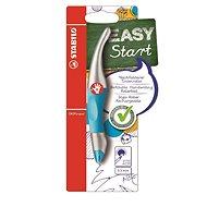 Stabilo roller EasyOriginal Start metalická/neon modrá pre praváka - Guľôčkové pero