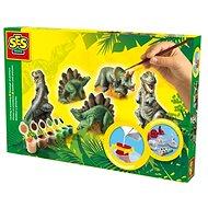 SES Sadrový trojkomplet - dinosaury - Kreatívna súprava