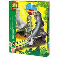 SES Sadrový komplet – T-rex - Kreatívna súprava