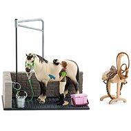 Schleich 42104 Umývací kút pre kone s príslušenstvom - Herný set