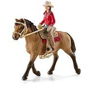 Schleich 42112 Westernová jezdkyně na koni - Figúrky