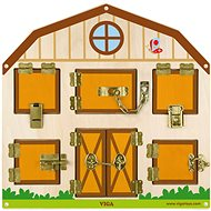 Dřevěná hra - zamykání a odemykání - Drevená hračka