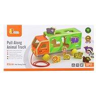 Dřevěná tahačka kamion se zvířátky - Drevená hračka