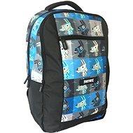 Fortnite Backpack modro-čierny - Školský batoh