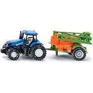 SIKU Super - traktor s prívesom na rozprašovanie hnojiva - Kovový model