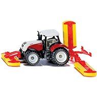 Siku Blister - traktor Steyr so žacími nádstavcami - Kovový model