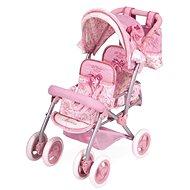 DeCuevas Toys Skládací kočárek pro dvojčata panenky Martina-S - Kočík pre bábiky
