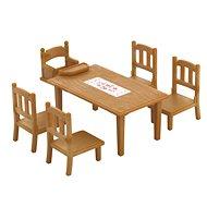 Sylvanian Families Nábytok – jedálenský stôl so stoličkami - Herná sada