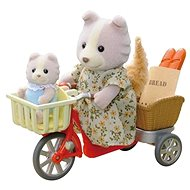 Sylvanian Families Psia rodinka na bicykli - Herná sada