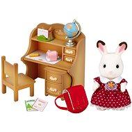 Sylvanian Families Nábytok chocolate králikov – sestra pri písacom stole so stoličkou - Herná sada