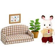 Sylvanian Families Nábytok chocolate králikov – tatko na pohovke - Herná sada