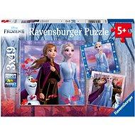 Ravensburgser 050116 Disney Ľadové kráľovstvo 2 3× 49 dielikov - Puzzle