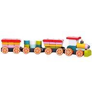 Cubika 13319 Vláčik s tromi vagónmi - Drevená hračka