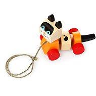 Cubika 13616 Ťahacia mačka - Drevená hračka