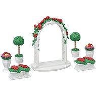 Sylvanian Families Mesto – kvetinová výzdoba s bránou