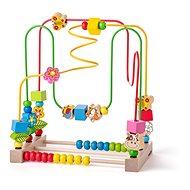 Woody Motorický labyrint s počítadlem a zvířátky - Didaktická hračka