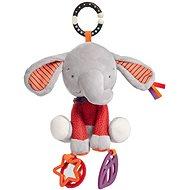 Sloník Ebby s aktivitami - Hračka na kočík