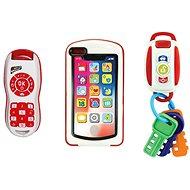 Moje prvé vybavenie 3 v 1, kľúče od auta, telefón a ovládač - Interaktívna hračka